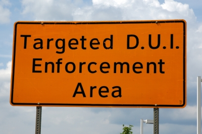 Targeted DUI Enforcement Area Sign