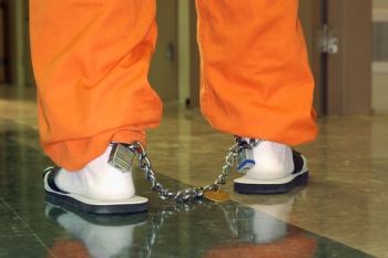 Convict in Ankle Cuffs